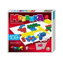 Пластмассовая мозаика для детей (100 элементов)