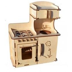 """Комплект мебели """"Кухонный гарнитур для больших кукол"""""""