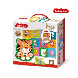 """MAXI Пазлы """"Зоопарк"""" BABY TOYS (24 элемента)"""