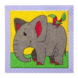 """Набор для творчества. Песочная фреска """"Добрый слоник"""""""