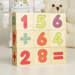 """Кубики деревянные """"Цифры"""", набор 9 шт."""