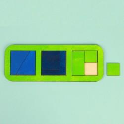 """Рамка-вкладыш """"Квадраты, 3 шт."""" по методике Никитина, 8 элементов, МИКС"""
