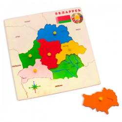 """Пазл """"Карта Беларуси"""""""