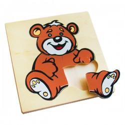 Пазлы Забавные животные: Медведь