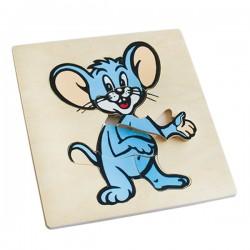 Пазлы Забавные животные: Мышь