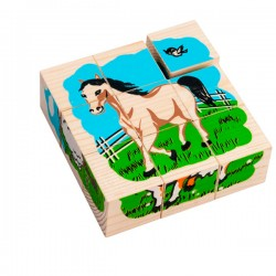 Детские кубики Кубики Домашние животные