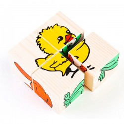 Детские кубики Кубики Животные