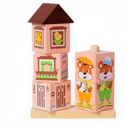 Детские кубики Кубики на палочке Мишка