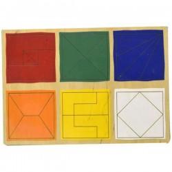 Пазлы Сложи квадрат уровень 2