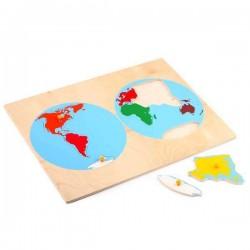 Пазлы Карта Континентов