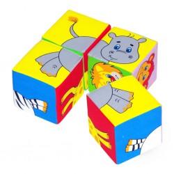 """Кубики """"Собери картинку"""" Животные"""