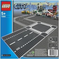 Строительная пластина LEGO City 7280: Перекресток