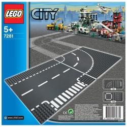 Строительная пластина LEGO City 7281: Т-образный перекресток и поворот
