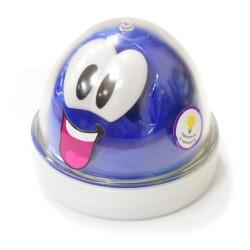Пластилин для детской лепки синий Smart GUM (светящийся в темноте)