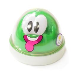 Пластилин для детской лепки зеленый Smart GUM (светящийся в темноте)